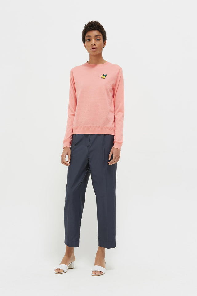 Pink Lemon Badge Cashmere Sweater image 3