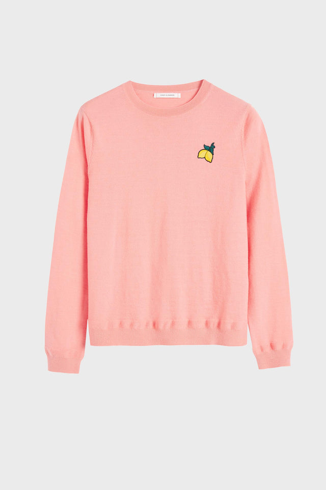 Pink Lemon Badge Cashmere Sweater image 2