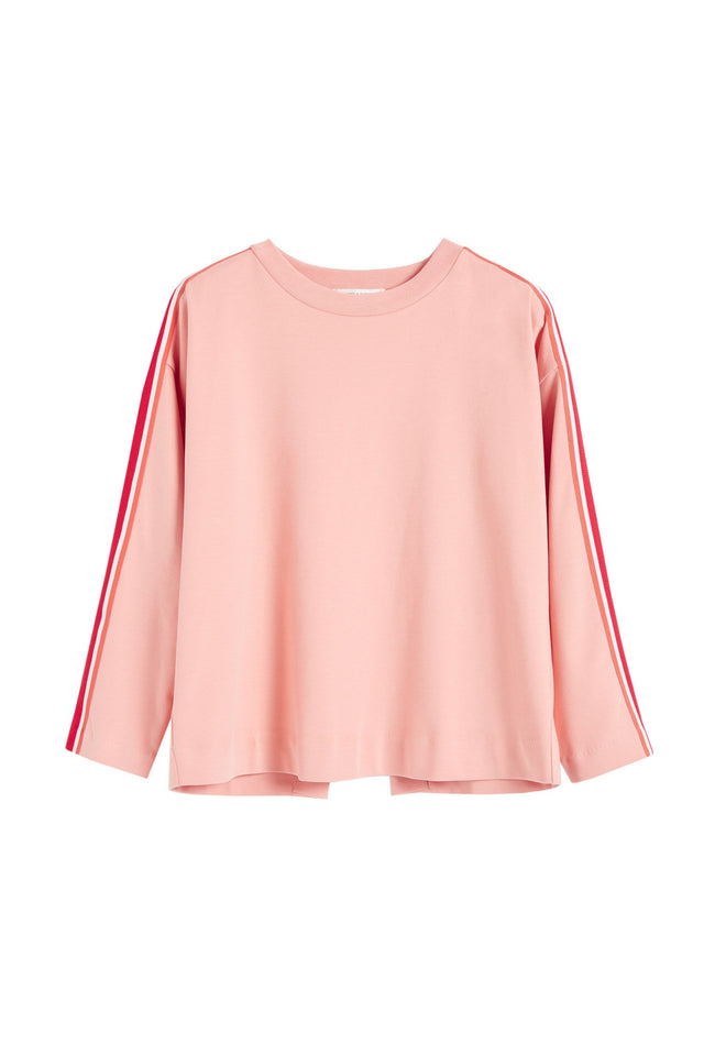 Pink Open Back Brushed Cotton Sweatshirt image 2