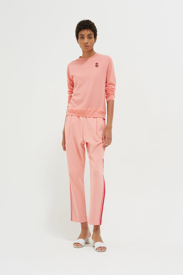 Pink Side Stripe Sweatpants image 4