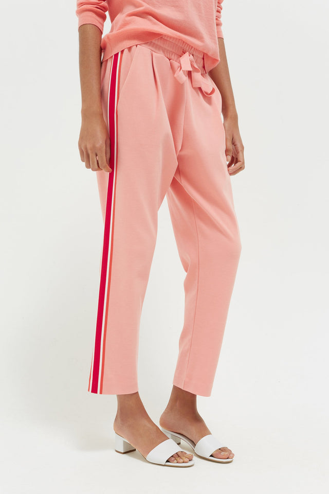 Pink Side Stripe Sweatpants image 1