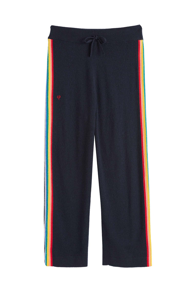 Navy Cashmere Rainbow Track Pants image 2