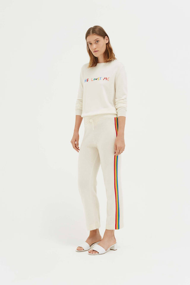 Cream Cashmere Rainbow Track Pants image 3