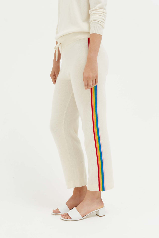 Cream Cashmere Rainbow Track Pants image 1
