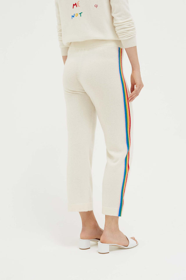 Cream Cashmere Rainbow Track Pants image 5