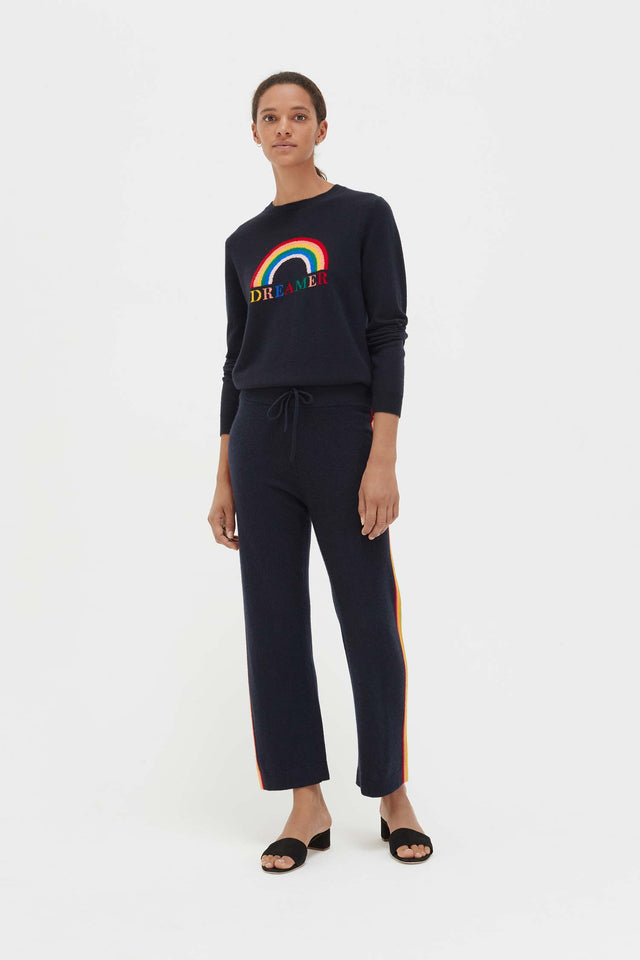 Navy Cashmere Rainbow Track Pants image 5