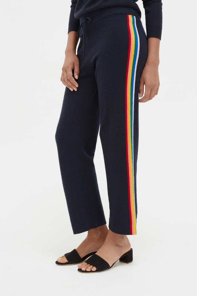 Navy Cashmere Rainbow Track Pants image 4