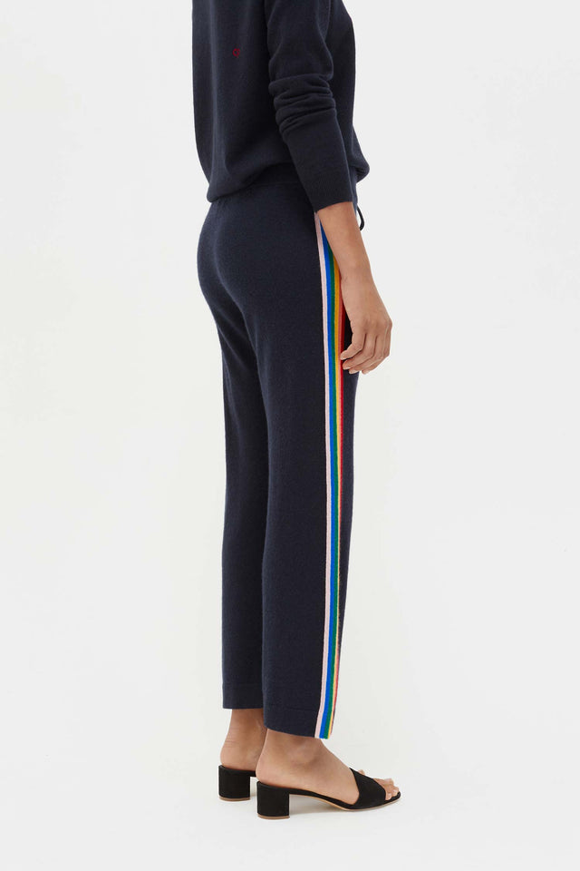 Navy Cashmere Rainbow Track Pants image 6