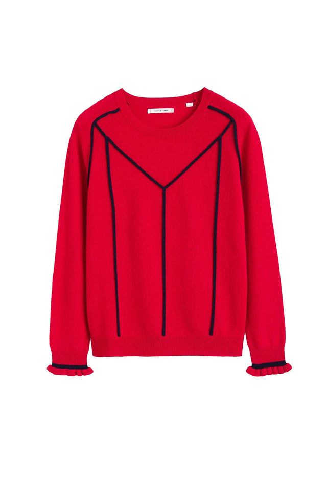 Red Ribbon Wool Sweater image 2