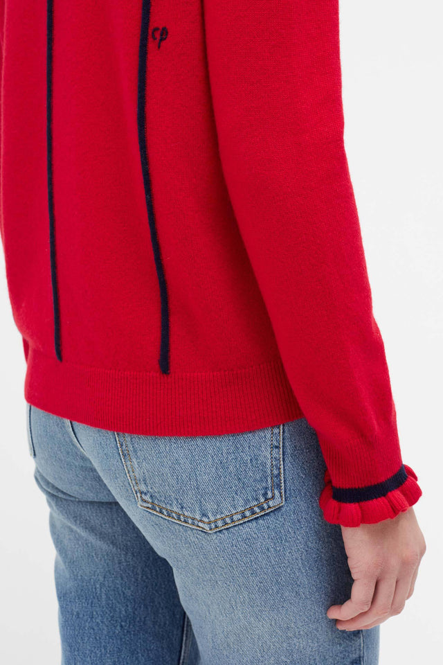 Red Ribbon Wool Sweater image 4