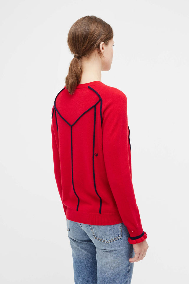 Red Ribbon Wool Sweater image 5