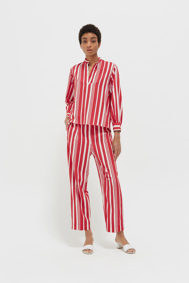 Red Striped Parasol Blouse image 4