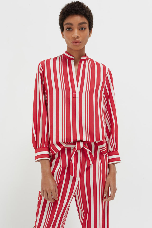 Red Striped Parasol Blouse image 1