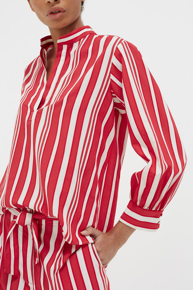 Red Striped Parasol Blouse image 5