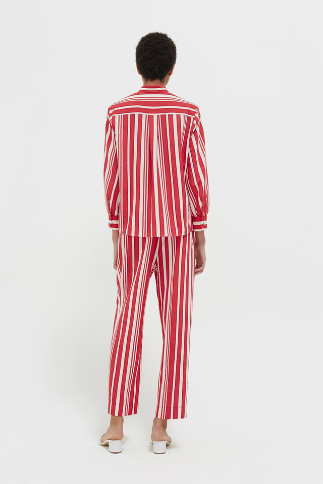 Red Striped Parasol Blouse image 6