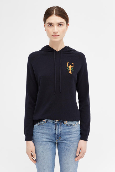 Navy Scorpion Patch Hoodie