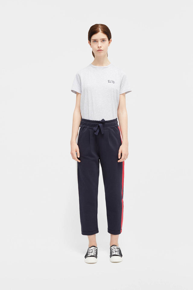 Navy Side Panel Track Pants image 1