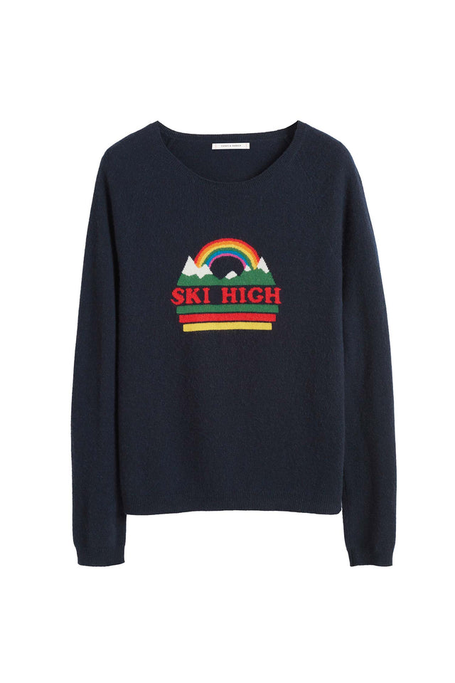 Navy Ski High Sweater image 2