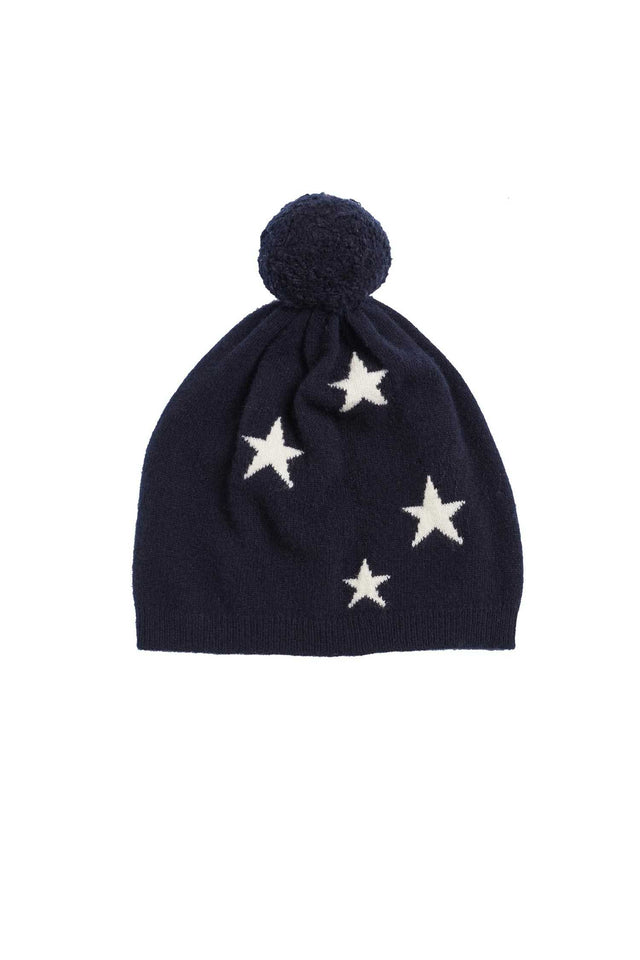 Navy Cashmere Star Hat image 2