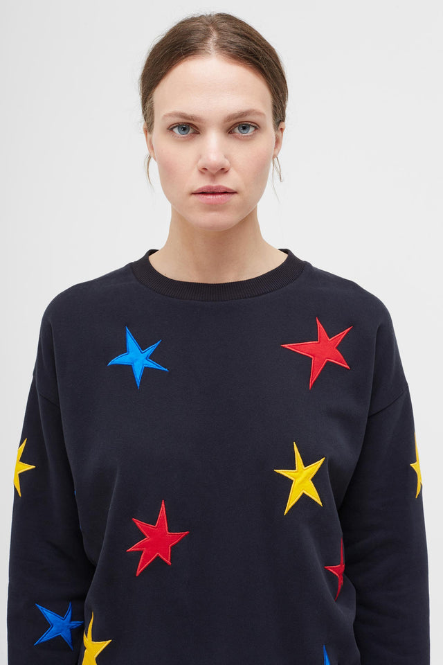 Navy Star Applique Sweatshirt image 1