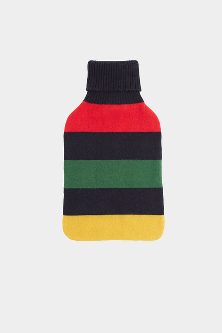 Navy Striped Hot Water Bottle