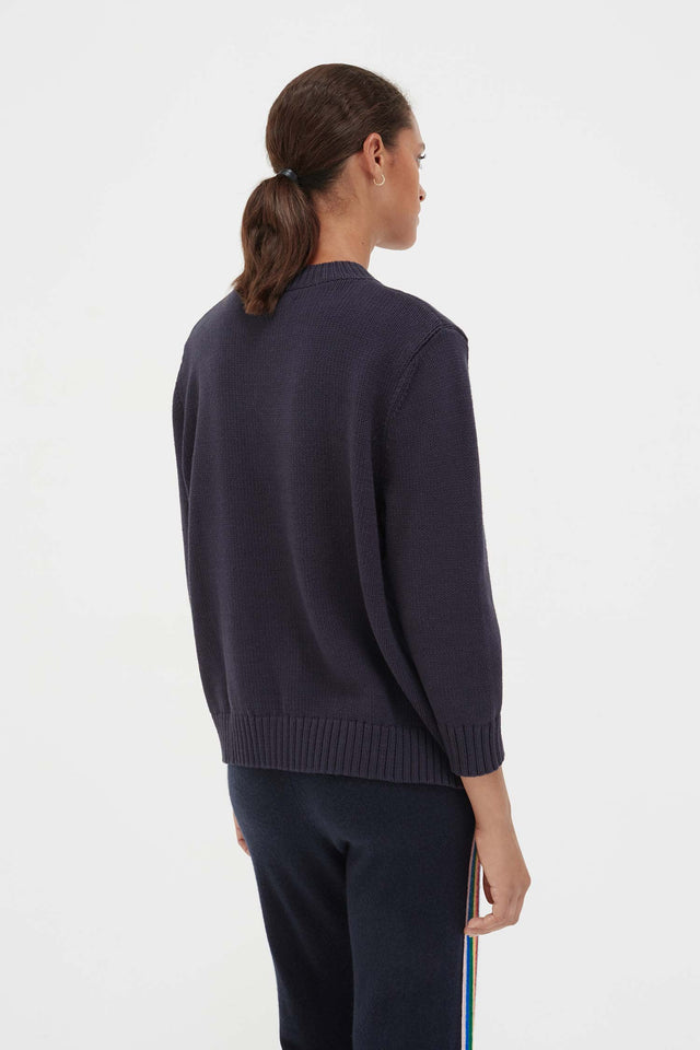 Navy Cotton Soleil Sweater image 6