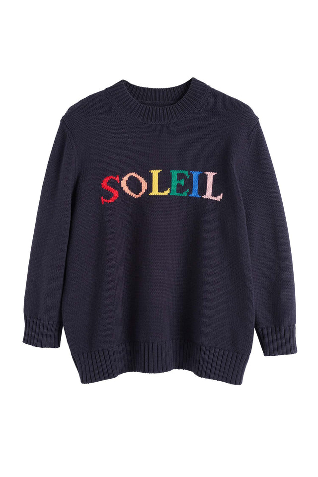 Navy Cotton Soleil Sweater image 2