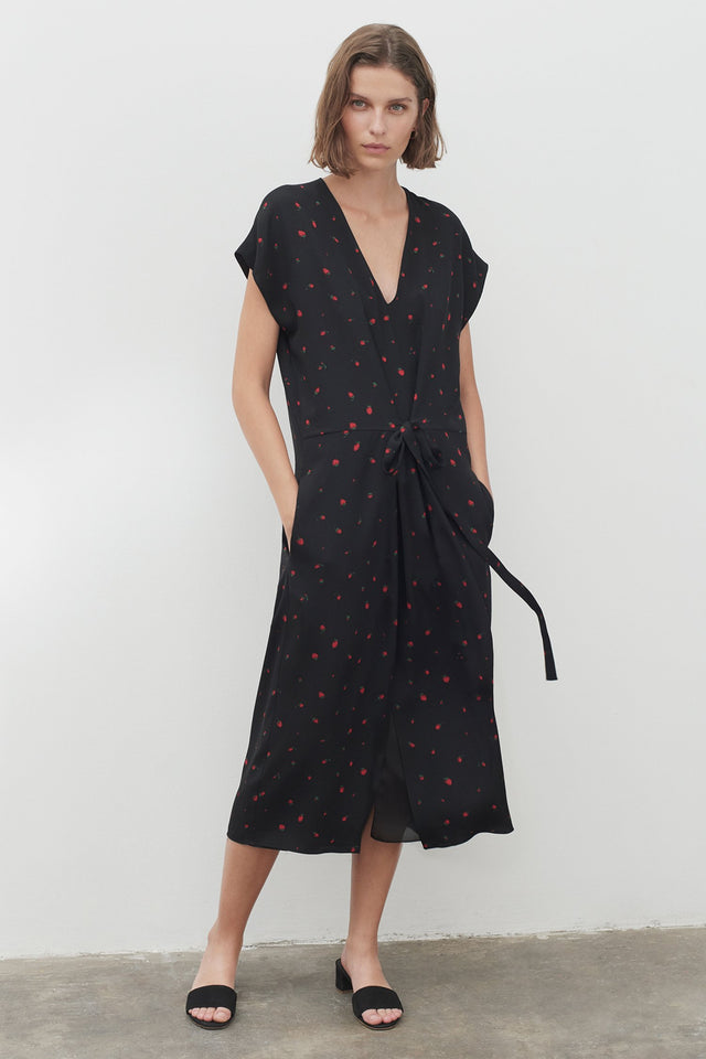 Black Silk Strawberry Fields Dress image 1