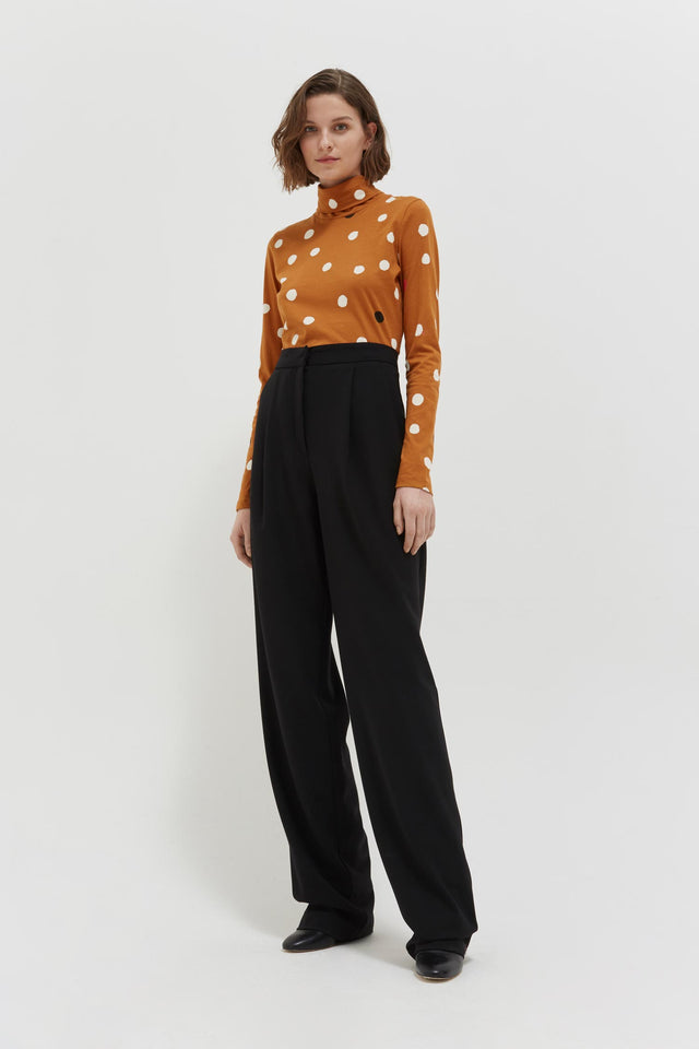 Ginger Painted Spot Long Sleeve Cotton T-Shirt image 3