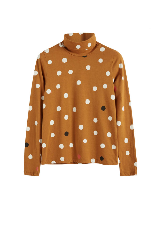 Ginger Painted Spot Long Sleeve Cotton T-Shirt image 2