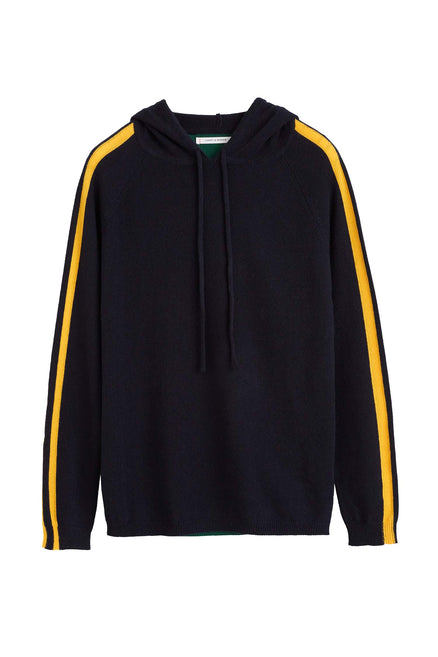 Navy Trapeze Cashmere Hoodie