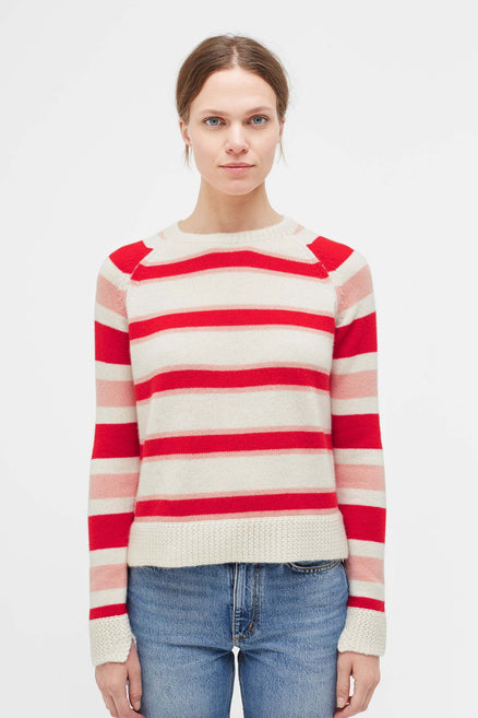 Striped Trapeze Cashmere Sweater