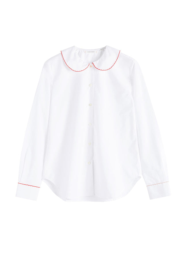 White Puritan Collar Shirt image 2