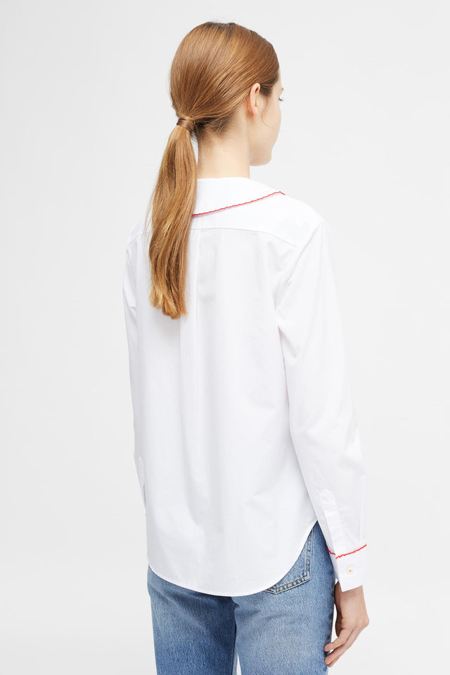 White Puritan Collar Shirt image 4