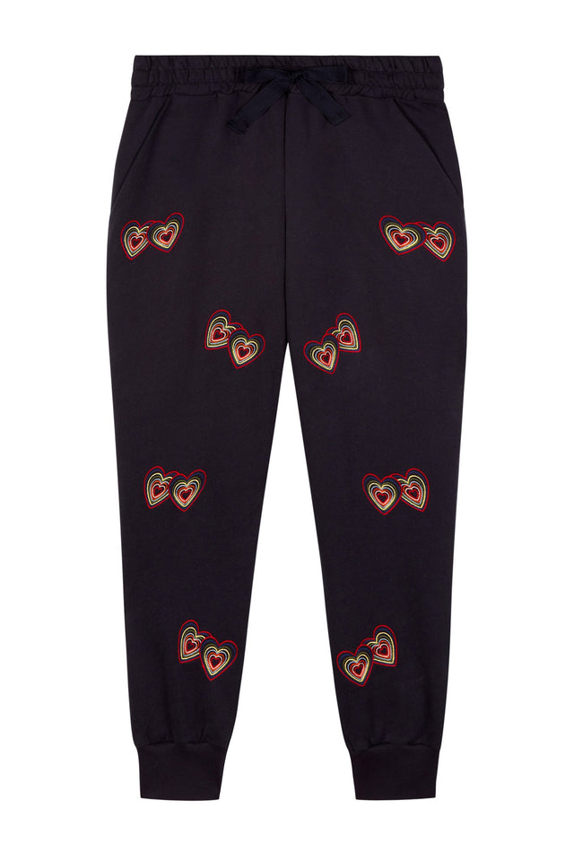 Navy Twin Heart Track Pants image 4