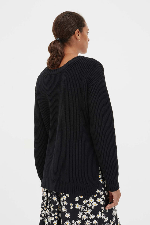 Black Cotton Weekend Sweater image 5