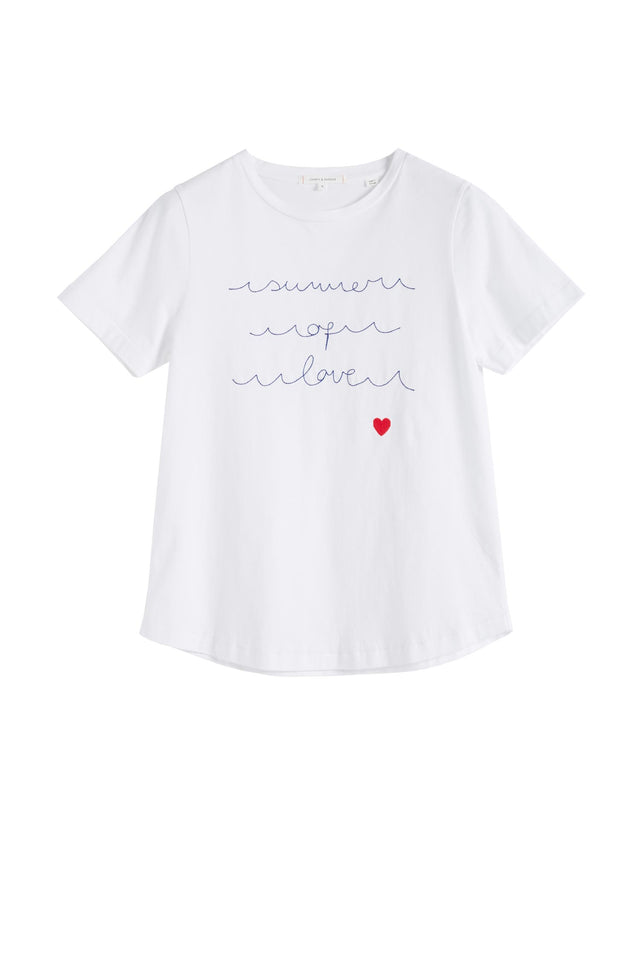 White Summer of Love Cotton Jersey T-Shirt image 2