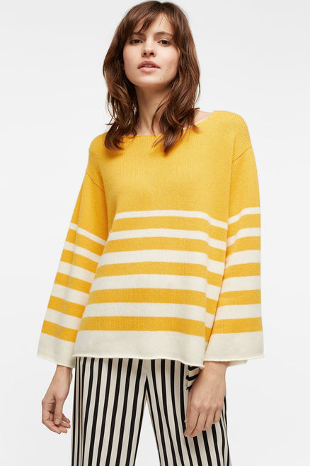 Sunflower Graduated Stripe Cashmere Sweater
