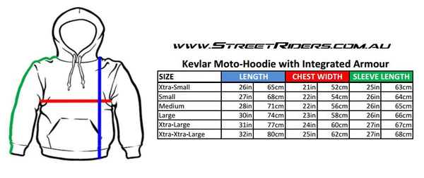motorcycle motorbike gear jacket hoodie kevlar ce ce2 armour hoody original street riders MSR wear casual apparel performance protective protection hoodie summer cool