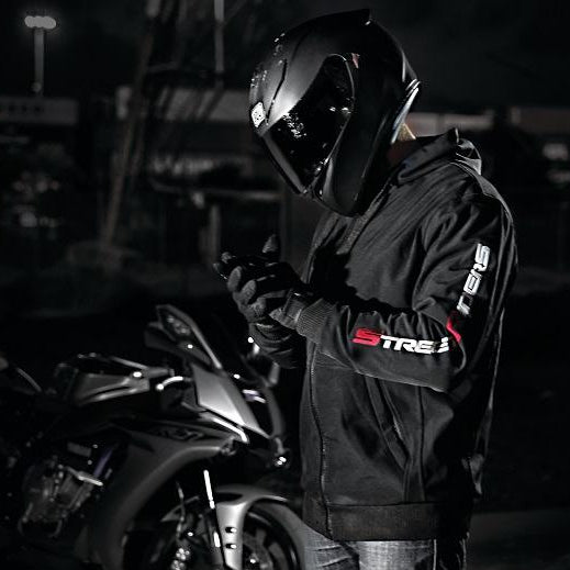 motorcycle motorbike gear jacket hoodie kevlar ce ce2 armour hoody soft shell windbreaker waterproof water resistant all terrain allterrain street riders MSR yamaha r1 wear casual apparel performance protective protection hoodie