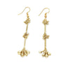 Brass Trio Cluster Dangle Earring