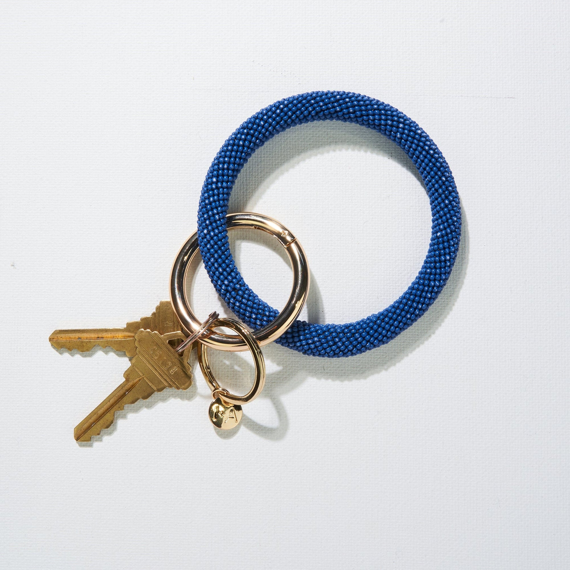 Lapis Seed Bead Key Ring