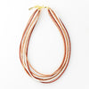 "terra cotta coconut 7 strand necklace 25"" with extension"