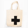 "medium cross dhurrie tote bag 12"" x 14.5"" x 4"""