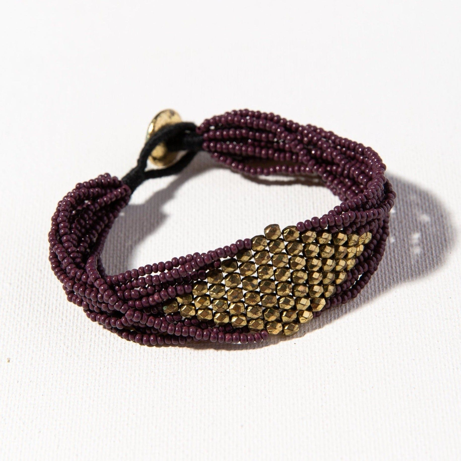 Port With Gold Diamond Seed Bead Bracelet