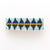 "light blue navy and yellow diamond beaded hair barrette 1"" x 3.5"""