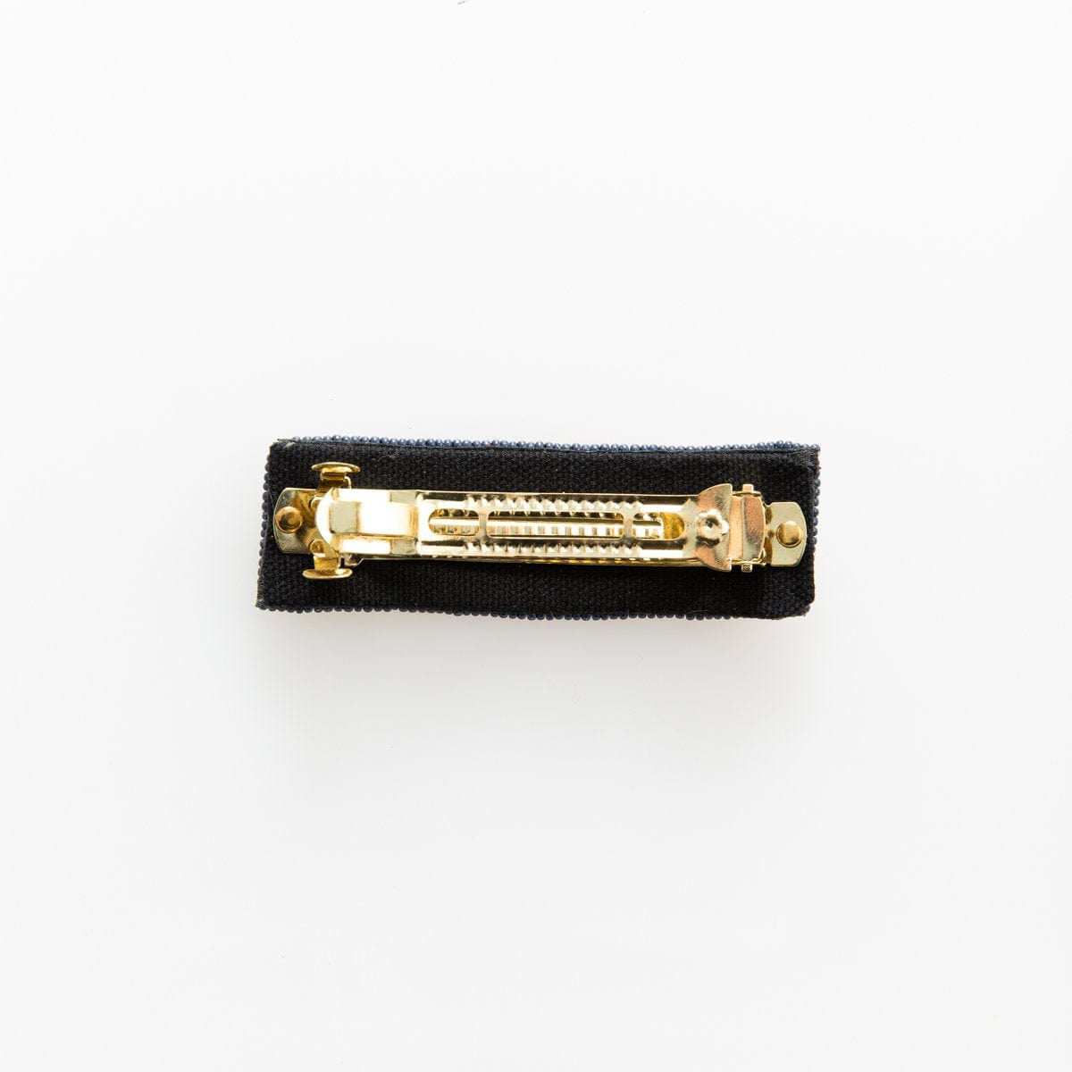 Black Gold Grey Stripe Barrette