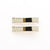 White Black + Gold Beaded Hair Clip - 2 pack