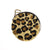 Cheetah Gold And Black Beaded Small Round Zip