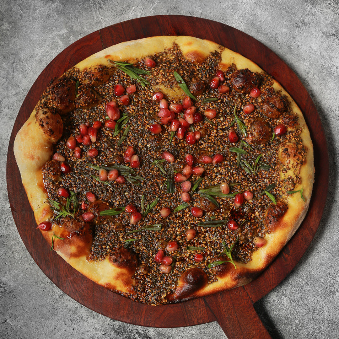 ZAATAR & POMEGRANATE MAN'OUSHEH